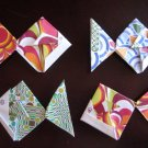 4 X ASSORTED HANDMADE ORIGAMI FISH