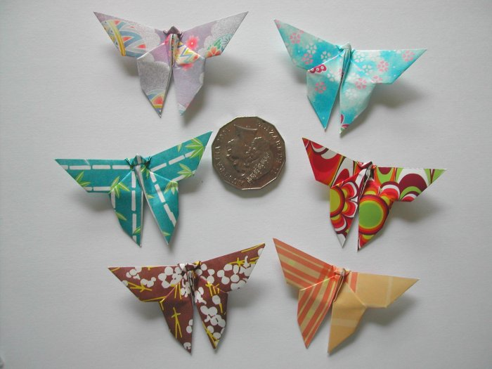 4 X ASSORTED HANDMADE ORIGAMI BUTTERFLY