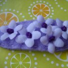 LOVELY FLOWER CLIP - Purple