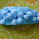 LOVELY FLOWER CLIP - blue