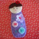 HANDMADE DOLL SNAP HAIR CLIP