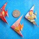 4 X ASSORTED HANDMADE ORIGAMI ANGEL FISH