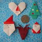 5 X ASSORTED HANDMADE ORIGAMI CHRISTMAS - LOT 1