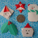 5 X ASSORTED HANDMADE ORIGAMI CHRISTMAS - LOT 2