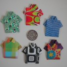 4 X ASSORTED HANDMADE ORIGAMI SHIRT