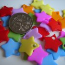 115 X ASSORTED COLOURS STAR CHARMS / JEWELRY