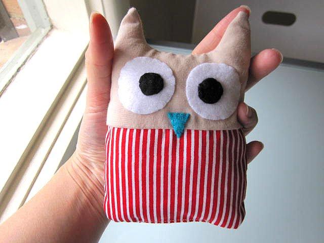 HANDMADE PLUSH OWL - BELLA