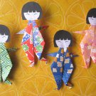 4 X ASSORTED HANDMADE ORIGAMI DANCING GIRL
