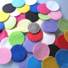 100 X MIXED COLOURS FELT CIRCLES - 4cm