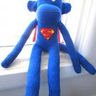 SUPER-MONKEY THE HANDMADE SOCK MONKEY- UNIQUE ONE OF A KIND