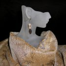 Brown & Tan Natural Stone Earrings