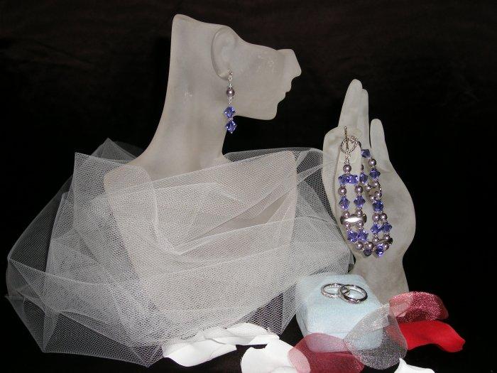 Violet Bicone Swarovski Crystal Bracelet