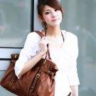 Brown casual shoulder bag