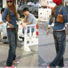 Korean Style Nostalgic Handsome Lady's Jeans (S)