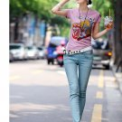 Korean Brand XZX  Embroidered Lady's Jeans, Sky Blue(25)