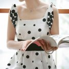 White Polka Dot Dress (XL)