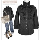 Black elegant blouse (XXXL)