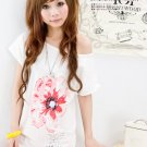 White Denmark hemp print t shirt (XXL)