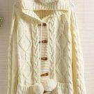Cream Teddy Beat Autum Sweater