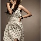 Petal Cut Polka-Dot Dress