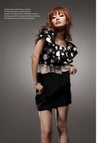Inverted Polka-Dot Dress