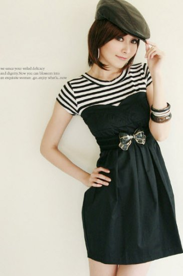Two Layer Dress Set With Belt (XXL)