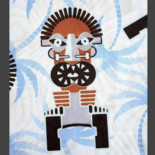BOFF Men's Tiki Theme Mesh Polo Short Size Medium (M) Surf/Atomic/Rockabilly
