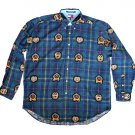 TOMMY HILFIGER Golf/Tennis Crest Logo Plaid Shirt Men's Size XL