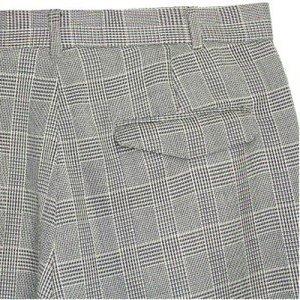 Mosa Black And White Glen Plaid Pleated Men S Dress Pants