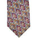 ALBERT NIPON Gray/Burgundy/Gold/Blue Silk Tie