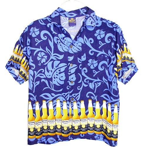 CORONA EXTRA Beer Hawaiian Aloha Shirt Size Large (L)