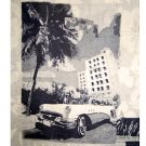 BRUNO Gray Cuban Photo Print Washable Pure Silk Shirt Size Large (L)