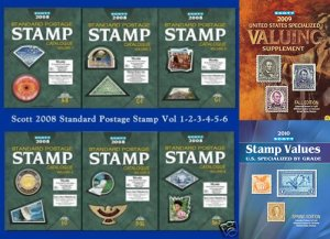 2008 Scott Stamp Catalogue Complete 6 Volumes (A-Z) with Free Shipping