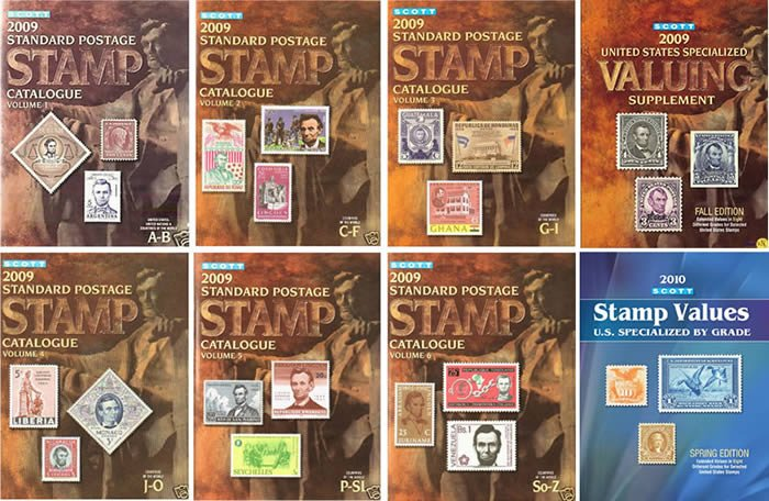 2009 Scott Stamp Catalogue Complete 6 Volumes (A-Z) with Free Shipping