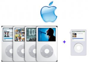 iPod Video 30GB -White w/ Clear Case