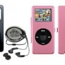 iPod Nano 1GB - Black w/ Pink Metal Case