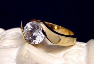 Engagement Ring 2CT Simulated Diamond size 5