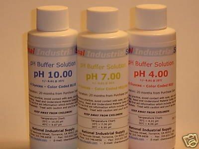 $4.99 pH Meter Calibration Buffer Solution - 4, 7 or 10 - 4oz