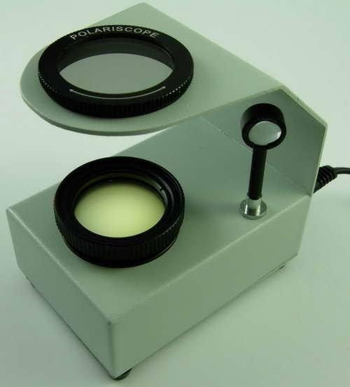 $79.99 NEW! Handheld Tabletop Polariscope 4 Gems Gemstones