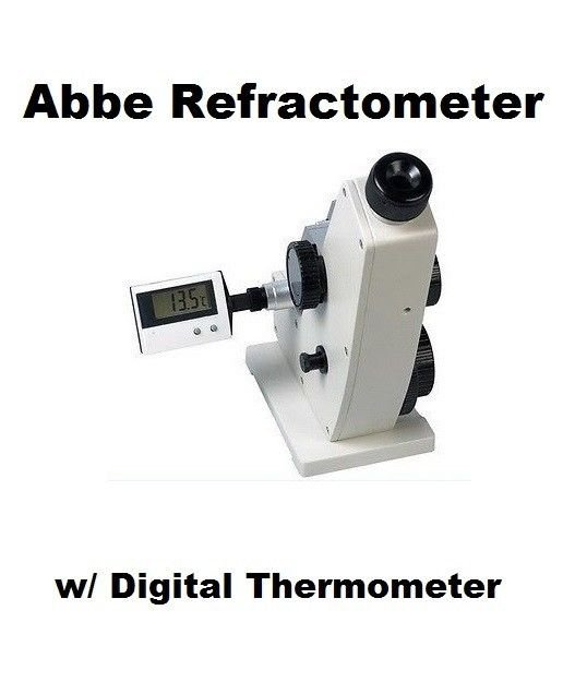 $409.99 ABBE Refractometer 0-95% Brix, ATC 4 Lab -  DEAL!  FREE S&H!