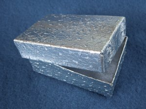 Gift Boxes - Cotton Filled Silver Foil New 12 pcs CFB001