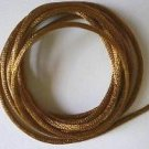 CORD, Satin - Rattail 12' 2mm ANTIQUE GOLD