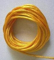 CORD, Satin - Rattail 12' 2mm CANARY