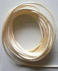 CORD, Satin - Rattail 12' 2mm CREAM