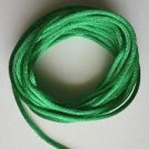 CORD, Satin - Rattail 12' 2mm EMERALD GREEN