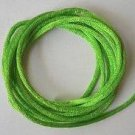 CORD, Satin - Rattail 12' 2mm LIME GREEN