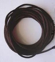 CORD, Satin - Rattail 12' 2mm MILK CHOCOLATE