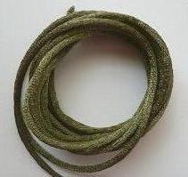 CORD, Satin - Rattail 12' 2mm OLIVE