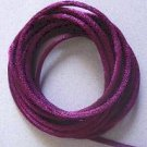 CORD, Satin - Rattail 12' 2mm ROYAL PURPLE