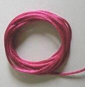 CORD, Satin - Rattail 12' 2mm TRUE ROSE
